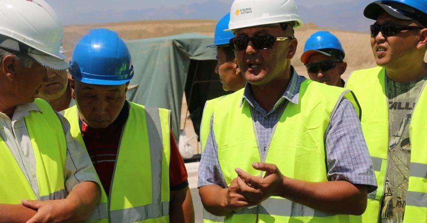 Губернатор, аким Таласской области и СМИ посетили хвостохранилище на «Джеруе»