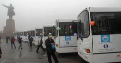 В Оше приступают к эксплуатации 30 новых автобусов, купленных на кредит ЕБРР