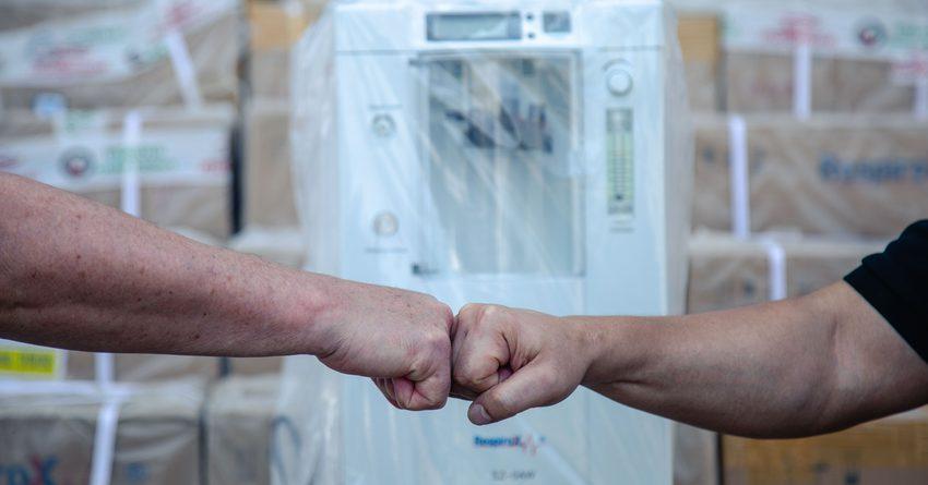 «Газпром Кыргызстан» передал кислородные концентраторы медучреждениям Бишкека