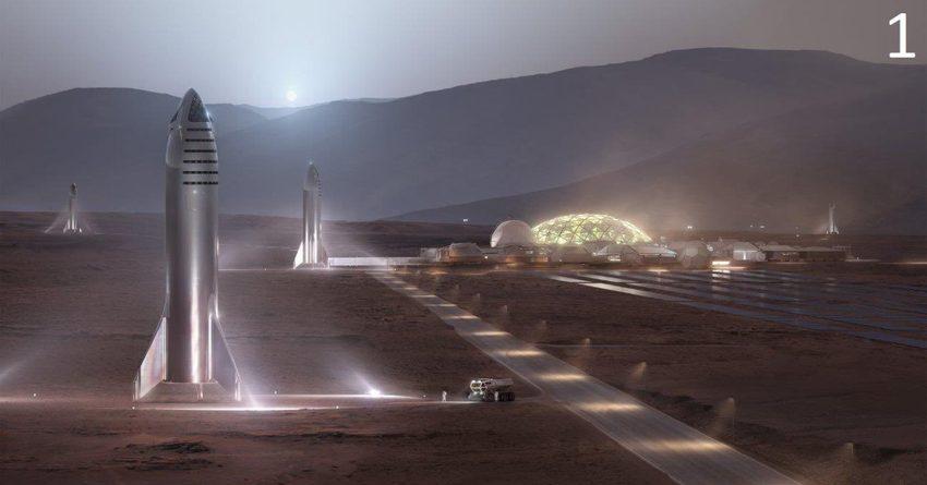 Илон Маск собирается построить миллионный город на Марсе