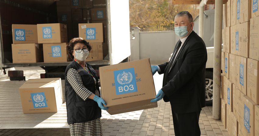 ВОЗ передала Кыргызстану более 1.5 млн медицинских масок