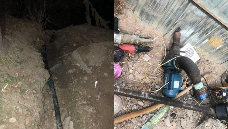 Финпол нашел трубу для транспортировки нелегального ГСМ из Казахстана
