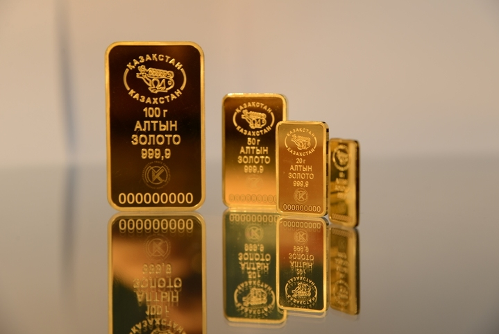 Золотые резервы Казахстана составляют 396 тонн