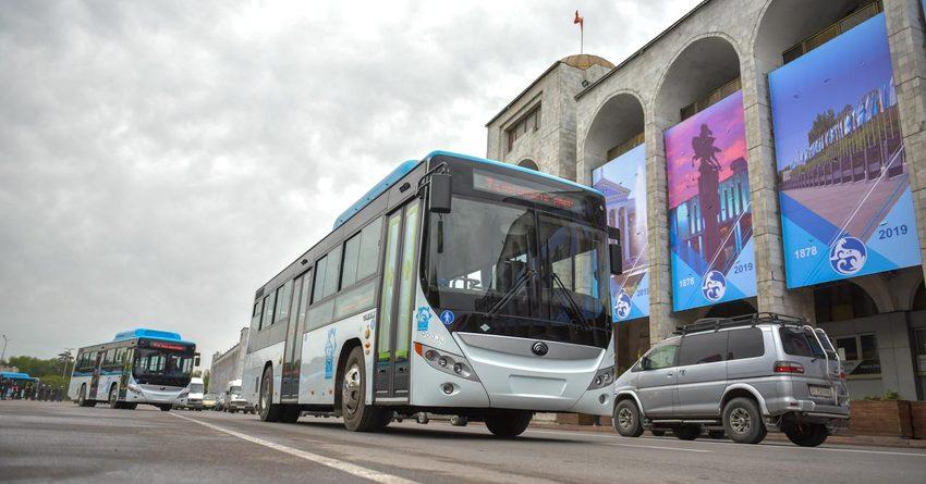 В Бишкеке разрешили работу общественного транспорта на выходных