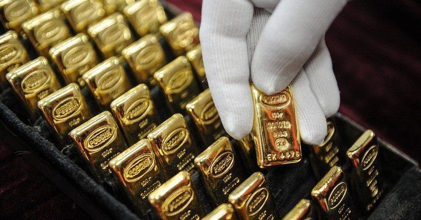Унция золотых слитков НБ КР за два дня подешевела почти на 2%