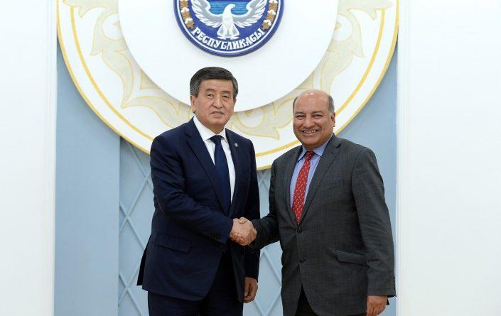 Сооронбай Жээнбеков встретился с президентом ЕБРР Сумой Чакрабарти