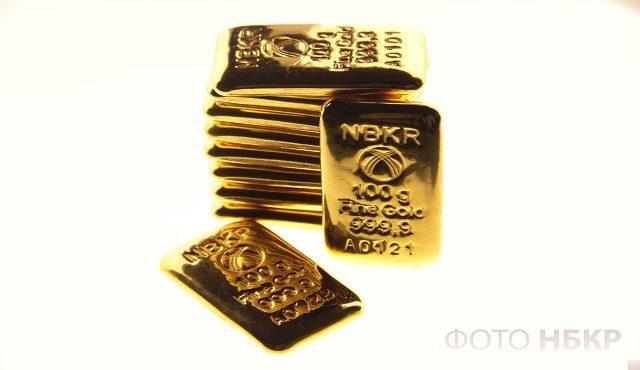 За две недели грамм золота подорожал на 3.625%