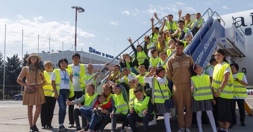 ОАО «МАМ» и «Газпромнефть-Аэро» провели экскурсию для воспитанников детских домов в главной воздушной гавани Кыргызстана