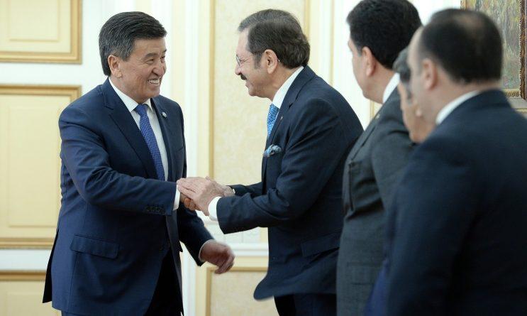 Президент встретился спредседателем Cоюза торговых палат итоварных бирж Турции