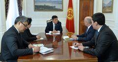 Жээнбеков попросил у ЕБРР бюджетной поддержки и льготного финансирования частного сектора