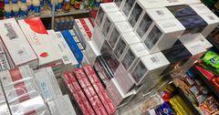 Салык кызматы Чүй облусунан акциздик маркасы жок 4500 таңгак тамеки тартып алды