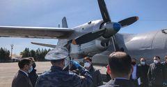 Военный самолет доставил гуманитарный груз в Ошскую область