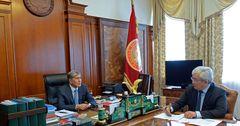 Алмазбек Атамбаев и Кубанычбек Кулматов обсудили работу РКФР