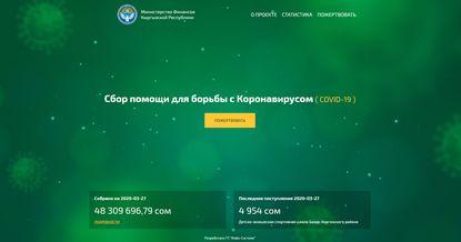 Запущен онлайн-ресурc по спецсчету по борьбе с коронавирусом