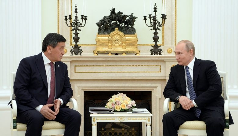 Жээнбеков и Путин обсудили саммит ОДКБ, который состоится в Бишкеке