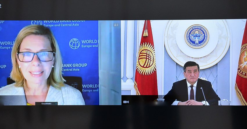 Президент КР провел переговоры с вице-президентом Всемирного банка по Европе и ЦА