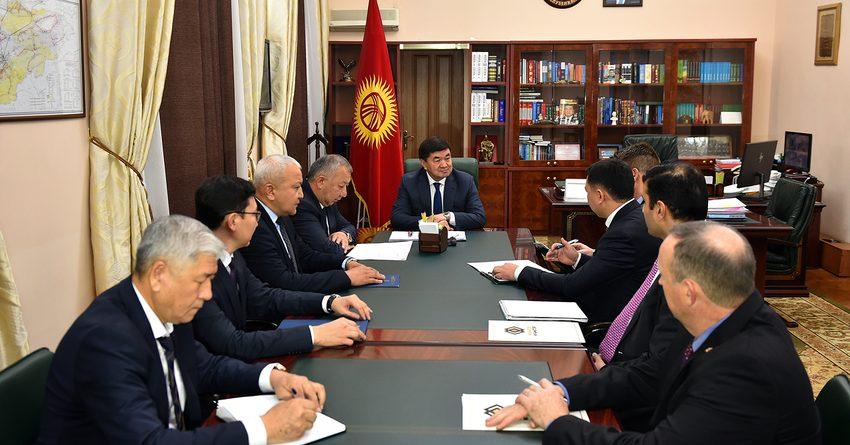 Мухаммедкалый Абылгазиев встретился с президентом Centerra Gold Inc. Скоттом Перри