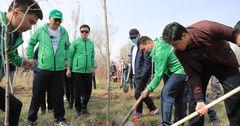 MegaCom принял участие в экологической акции по озеленению парка в Бишкеке
