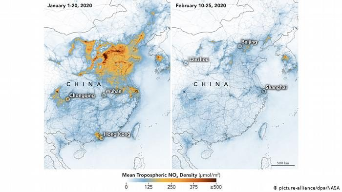 NASA:Коронавирус экологиягаоң таасирин тийгизип,Кытайдагы абанын булгануусун төмөндөттү